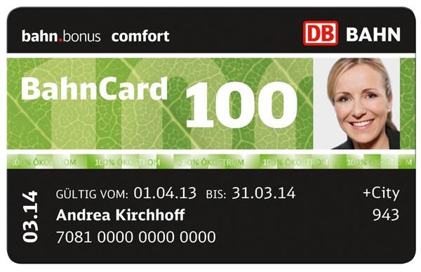 Железнодорожные карты со скидками Bahncard от DB (Deutsche Bahn)