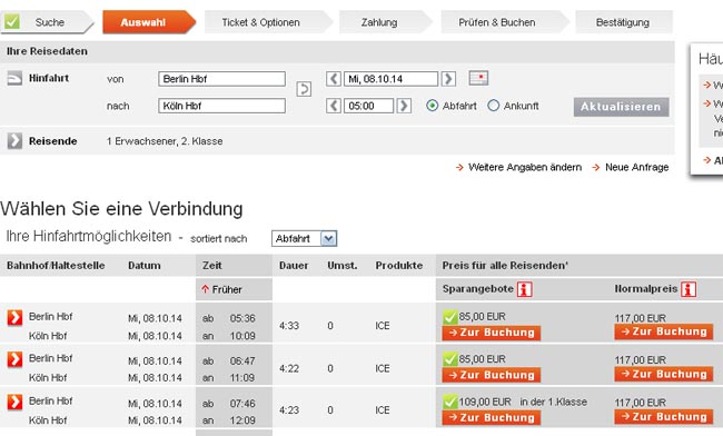 Дешевые билеты на железную дорогу в Германии