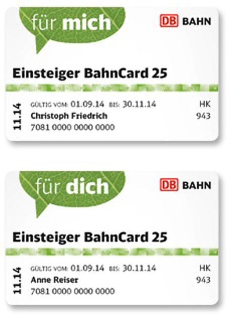 Einsteiger Bahncard для Дойче Бан