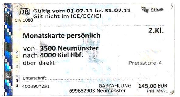 Месячный билет на Deutsche Bahn