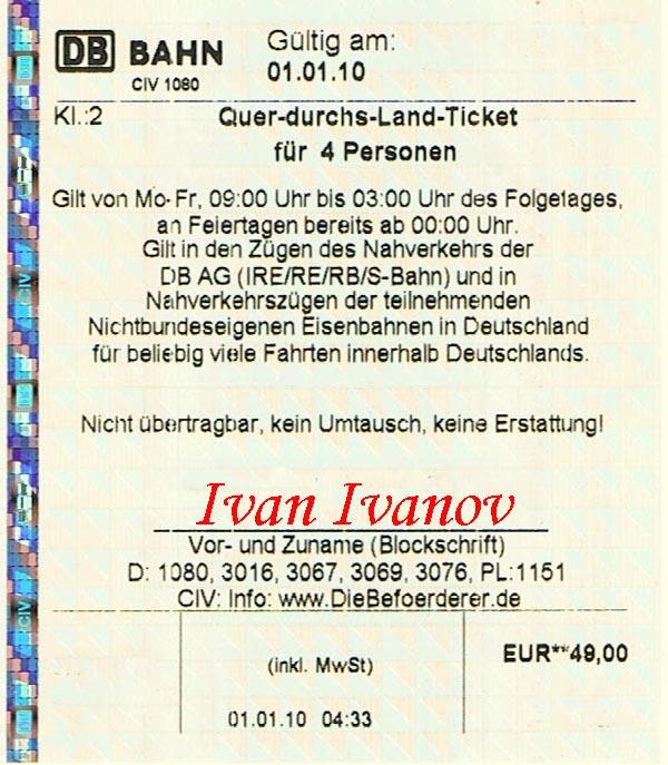 Дешевые билеты на железную дорогу в Германии в будние дни