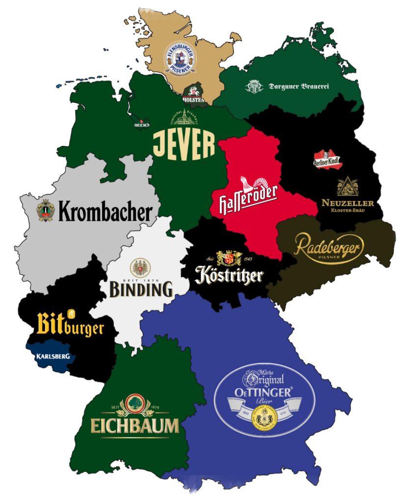 Пивная карта Германии
