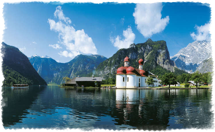 Озеро Кенигсзе в Альпах