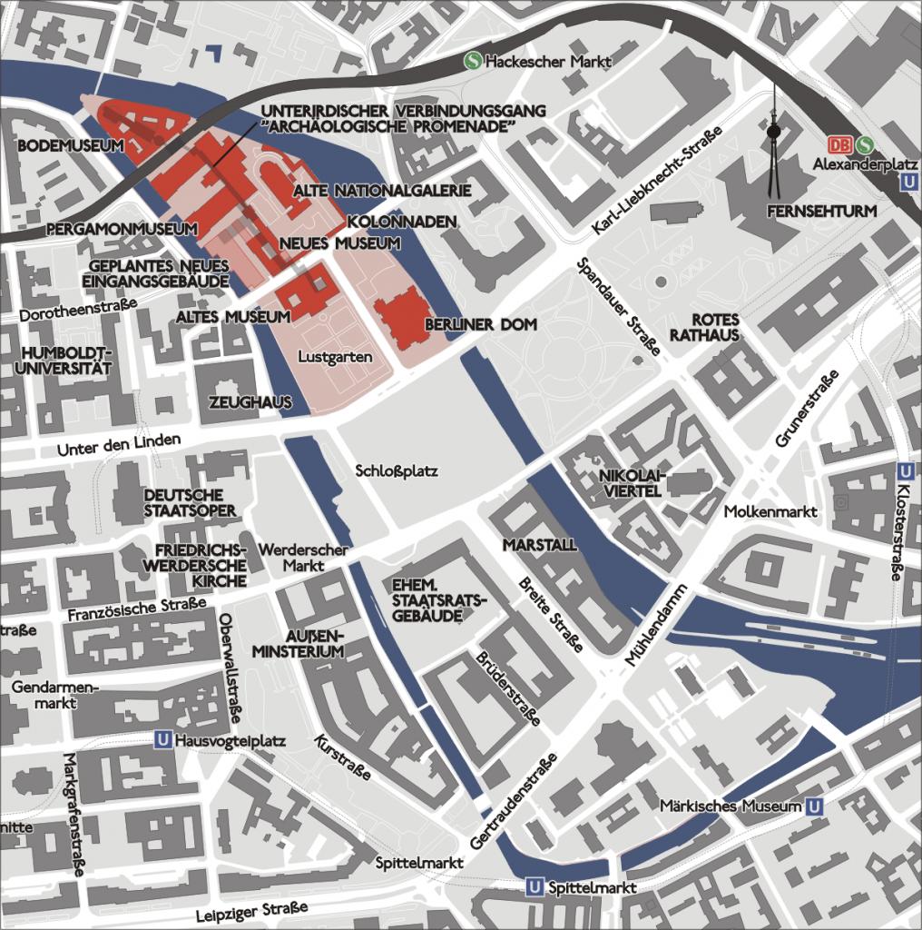 Карта музеев в Берлине