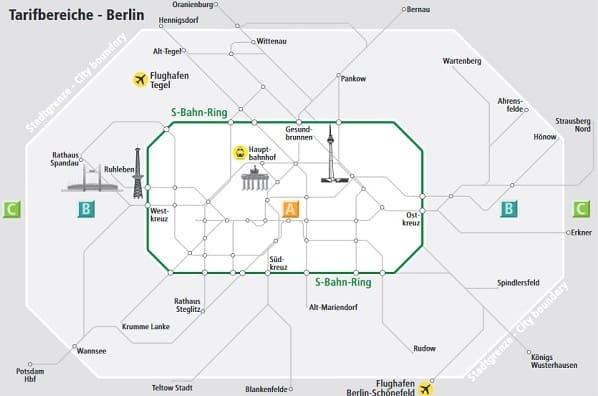 зоны метро Берлина